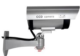Wholesale Ir Led Camera Flash - 50 pcs 2015 Wireless Home Surveillance Security Dummy Camera Fake IR Simulation Camera Waterproof LED Flashing Indoor Outdoor Bullet CCTV