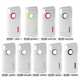 Wholesale Carbon Fibre Iphone - For iPhone 8 Plus iPhone x Case Back Cover Case Clear Carbon Fibre TPU+PC for iPhone 7 7 Plus Samsung Note 8 S8Plus
