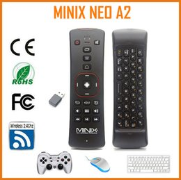 Wholesale Minix Neo X7 Android Tv - Wholesale-MINIX NEO A2 2.4G Wireless keyboard gyroscope remote control with Speaker& Microphone for skype for minix neo x7  android tv