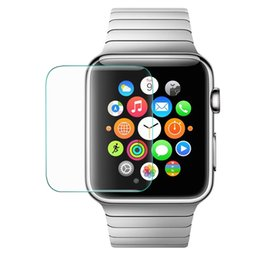 Wholesale Film Front Bags - 0.3mm Ultra Thin 9H Hardness Premium Tempered Glass Screen Protector Film For Apple Watch 38mm 42mm Screen Protector Watch With Retail Bag