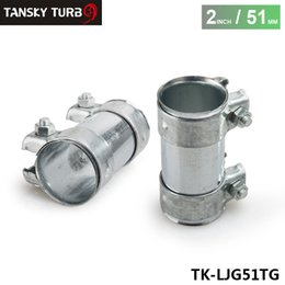 "Wholesale heavy clamp - TANSKY - High Quality 2"" 51mm Exhaust Pipe Connector Heavy Duty Sleeve Double Clamp Tube Adapter Joiner TK-LJG51TG"