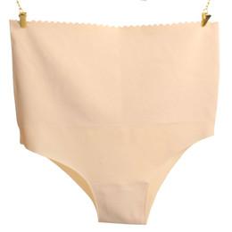 Wholesale Thinner Waist Tummy - ultra-thin High Waist Beauty Care Tummy Control Body Shaping Abdomen Slimming Underwear Women Seamless Control Panties S M L XL 2pcs lot