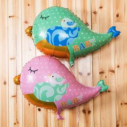 Wholesale Bird Balloons - Lovely Color Bird Foil Balloons Festive Christmas Party Decoration Wedding Gift Favors Cute Balloon Children Gift Toys SD480