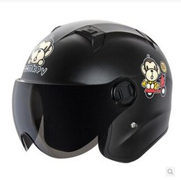 "Wholesale Types Vespa Helmets - Wholesale-"" ANDES-B622-G "" Portable-type Light ABS Open Face Casco Vespa Helm Motorcycle Matte Black "" Star "" Helmet"