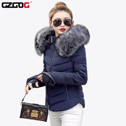 Wholesale Fake Fur Clothing - Wholesale- Fake raccoon fur collar parka down cotton jacket Winter Jacket Women thick Snow Wear Coat Lady Clothing Female Jackets Parkas