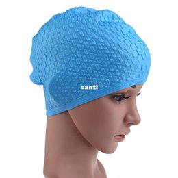 Wholesale Fashion Sporty Silicone - Fashion Hot Colorful Sporty Adult Swimming Cap Waterproof Silicon Waterdrop Cover
