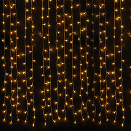 Wholesale 6m 3m 600leds Low Voltage Fairy Wedding Snowing String Lighting Lamps Home Outdoor Christmas Party Decoration Curtain Led Light From Dropshipping