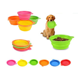 Wholesale Silicone Dog Bowls - Pet Products silicone Bowl pet folding portable dog bowls wholesale for food the dog drinking water bowl pet bowls L004