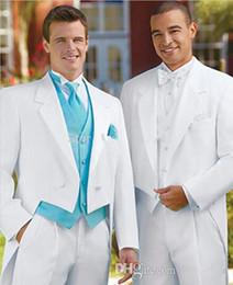 Costumes pour hommes de mariage robes blanches de robe de mariée de couleur blanche Tuxedo sur mesure (veste + pantalon + gilet) ? partir de fabricateur