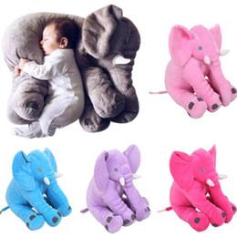 Wholesale Soft Stuffed Elephant Toy - Wholesale- Cute Long Nose Elephant Doll Pillow Soft Plush Stuff Toys Lumbar Pillow Children Adult Pillow Wholesale