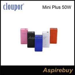 Wholesale Gt Box - Original Cloupor Mini Plus Updated Version 50W Variable Voltage Wattage Temperature Control TC Box Mod vs ipv D2 ipv4 Cloupor GT Vapor Mods