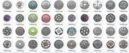 ganchos de metal plano Desconto 100 pcs misturado 20 deisgns para a sua escolha de liga de zinco cristal Noosa 20mm 5.5mm snap botão de pressão de gengibre pedaços Clasps Snap Jóias Noosa