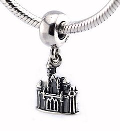 Wholesale Pandora Castle - Fits Pandora Bracelet&Charms Sleeping Beauty Castle DIY Beads Solid 925 Silver Not Plated