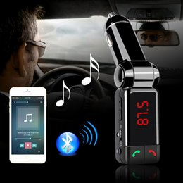 Wholesale Mini Radio Transmitter - BC06 Bluetooth Car Kit Charger Car Charger Mp3 Player Mini Dual USB Port AUX FM Radio Transmitter VS BC08 BC09 G7 BT66 X5 T10 T11 Car Kit