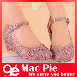 ee4f4e3031acea hole shoes flat sandals bird s-nest plastic crystal jelly women sandals  shoes