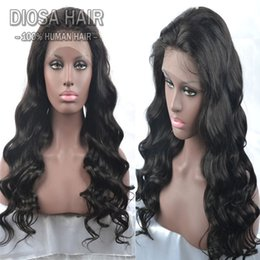 Wholesale Half Lace Wig Cheap - Cheap Unprocessed Brazilian Body Wave Full Lace Human Hair Wigs For Black Women 150 Density Virgin Brazilian Body Wave Lace Front Wig