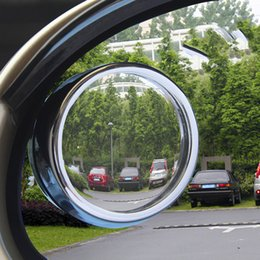 Wholesale Drivers Side Mirror - Wholesale-5*8cmNew Driver 2 Side Wide Angle Round Convex Car Vehicle Mirror Blind Spot Auto RearView For All Car 2pcs Per SetFree Shipping