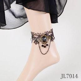 Wholesale Wholesale Women Minimum Order - Wholesale-Minimum order $10(mix items)JL7014 Korea Fashion Women Black Lace Anklet Pendant Chain Banque Party Gift Jewelry