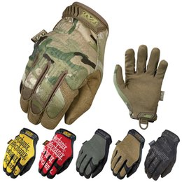 Wholesale Gloves Black Woman - New MECHANIX Super General Edition Army Military Tactical Gloves Outdoor Full Finger Motocycel Bicycle Mittens Free Shipping