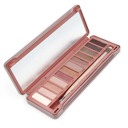 Wholesale Name Brand Eyeshadow - Eyeshadow With English Names Mattle Palette Brand Makeup Smoked 12pcs 12 Color Nude Eyeshadow Palette Makeup Kit Eye shadow