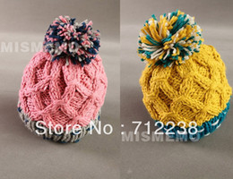 Wholesale Knit Beret Scarf Set - Wholesale-Korean winter winter thickened ear Beret wool hat Baotou knitted hat
