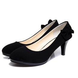 Wholesale Blue Pumps For Cheap - Wholesale-cheap 2015 Summer Women Shoes High Heels bowtieSexy Women Pumps Wedding Shoes For Women