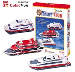 Wholesale 3d Puzzle Card Models - Wholesale-Paper model,Children's DIY toy,Paper craft,Birthday gift,3D educational Puzzle Model,Card model,yacht club