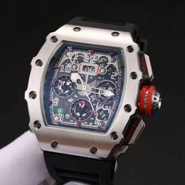Wholesale Europe Watches - Europe and the United States top luxury brand watches RM 011 natural rubber strap mineral tempered glass XTC automatic movement men's watch