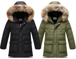 Wholesale Thick Boys Jackets - Wholesale-2015 New arrival Children's Down Jackets coats Parkas fur Big boy Coat thick duck Down feather jacket Outerwears