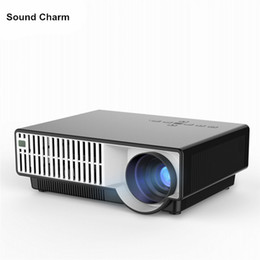 Wholesale hd game projector - Wholesale- Full HD Projector 1280*800 With Remote Control Projector For Video Games Support HDMI AV home theater beamer free shipping