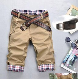 Wholesale stylish casual pants - Wholesale-Men Stylish Designed Slim Straight Trousers Man Casual Cropped Pants M-3XL Wholesale Free Shipping # 2522113