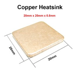 Wholesale Ic Heatsink - Wholesale- 10pcs lot 20x20x0.8mm DIY Copper Shim Heatsink thermal Pad Cooling for XBOX360 PS2 3 4 BGA CPU VGA Chip RAM IC Cooler Heat sink