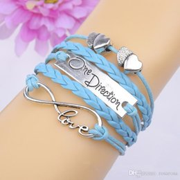 Wholesale One Direction Wholesale Watches - Wholesale-1d one direction bracelet watch love bracelet wrap charm leather bracelets for women one direction necklace leather bracelet men