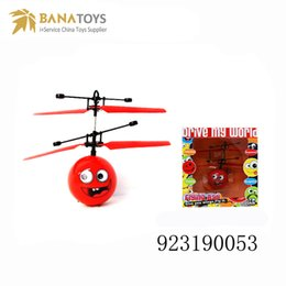 Wholesale Fly Display - Flying Helicopter Flying Ball Funny Toys With USB Motion Sensor Flying Ball Helicopter Toys Toy Display Infrared Control Free Shipping