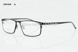 Wholesale Free Prescription Eyeglasses - Free shipping brand glasses designer titanium prescription eyeglasses frame fashion optical full 2016 new arrival P8184