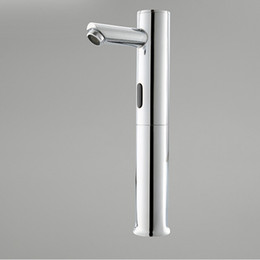 2019 rubinetti in acciaio inossidabile spazzolato Caldo! Trasporto libero - Le mani d'ottone toccano il rubinetto automatico libero del rubinetto del sensore di Chrome Touch-Free del rubinetto del bacino A-FRD003