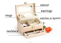 Wholesale Red Rectangle Ring - NEW ARRIVAL AIHE COSMETIC ORGANIZER MAKEUP CASES Can put lipsticks rings necklaces watches and so on free shipping