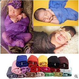 Wholesale Photo Props Blanket - 170*110cm Baby Cotton Linen Gauze Wraps Cheesecloth Wrap Newborn Baby Photo Props Wrap Blanket Wrap Gauze Fabric Infant Newborn Baby Wrap 27