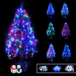 Wholesale Red Blue White Leds - Hot 10M 100 LED string 100 LEDS LED String Lights 110V 220V Christmas Holiday Lighting for Wedding Party Decoration