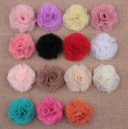 Wholesale Eyelet Headbands - Baby Girls Tulle Multilayers Eyelet Flowers For Diy headbands Kids DIY Christmas Hair Styling Accessories Diy Hair clips AW27