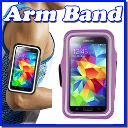 Wholesale Cell Phone Note3 - For iphone 6S Plus note3 4 Waterproof Sports Running Armband Case Workout Armband Holder Pounch For iphone Cell Mobile Phone Arm Band