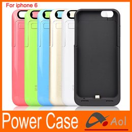 Wholesale Iphone Case Outer - 3500mAh Power Bank Back Outer Jacket protective backup Battery Case charger Phone Stand for iPhone6 4.7 inch iphone 6 wholesale