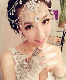 Wholesale Real Hair Hairpieces - Luxury Cheap New Real Images Rhinestone Beautiful Shining Crystal Wedding Bridal Wedding Hairpiece Accessory Metal Rhinestone Head Jewelry Z