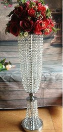 Wholesale Crystal Wedding Events - 10 pcs lot New arrival 80cm tall 22cm diameter acrylic crystal wedding road lead wedding centerpiece event party decoration