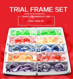 Wholesale Optical Trial Frames - trial frame set 52~70mm fixed trial frame, 10pcs set optical trial lens frame