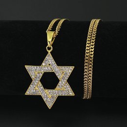Wholesale Alloy Jewlery - 3mm 24inch Stainless Steel Cuban Chain Star pendant Necklace fashion Necklace Hip Hop Jewlery for Man N645