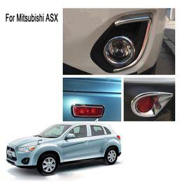 2019 iluminación asx Para 2013 Mitsubishi ASX ABS Chrome Front + back Luz antiniebla Cubierta de la lámpara Trim tt iluminación asx baratos