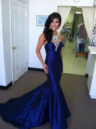 vestido bling coral Rebajas Vestidos de fiesta formales azul real con vestidos de fiesta con cuentas de abalorios Bling Vestidos De Fiesta Vestidos de fiesta elegantes y elegantes 2015