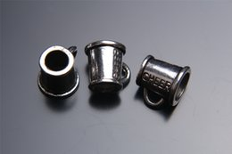 Wholesale Cheer Tops - Top Sale 200pieces 11mm Cheer Cup Charms Spacer Beads connector Pendant 7224 925 Tibet Silver DIY Jewelry Beads Europe Bracelet Necklace