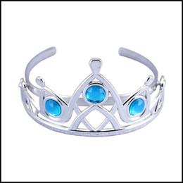 Chicas congeladas accesorios online-Prettybaby Girls Silver color Tiara niña 6 colores hairbands de plástico congelados niños Cinderella Hair Accessories Pt0032 #